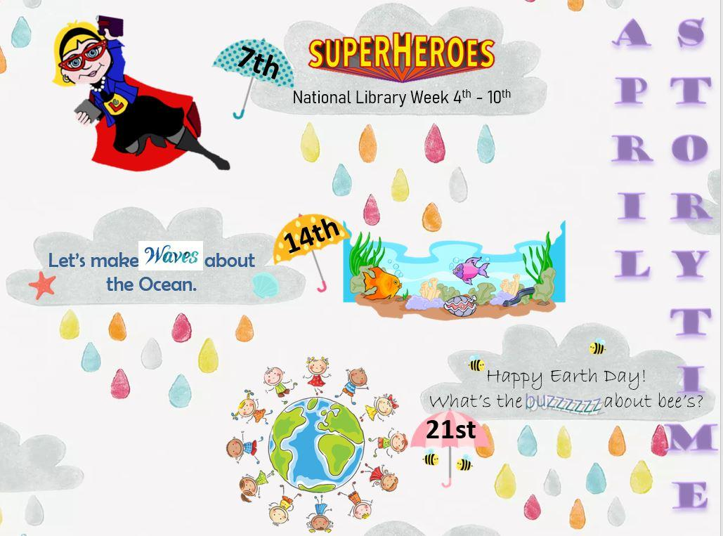 April Storytime Schedule