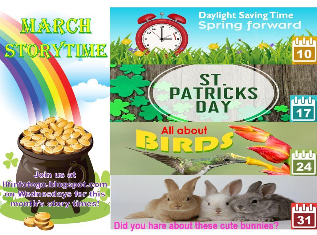 March Storytime Topics